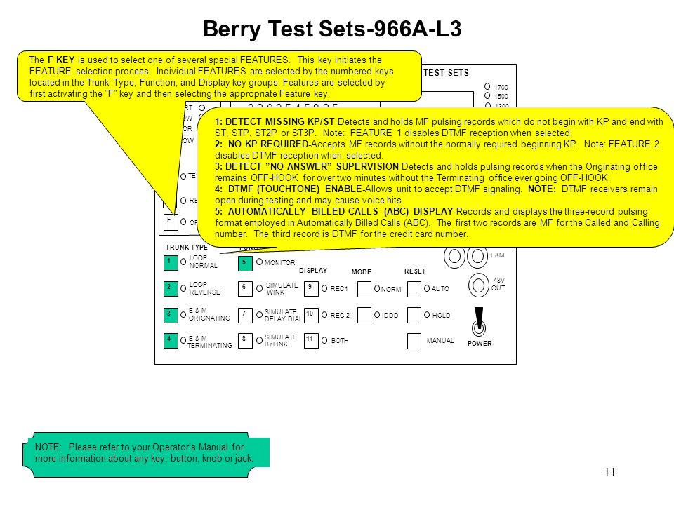 Berry Test Sets-966A-L3