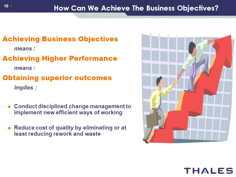 How Can We Achieve The Business Objectives