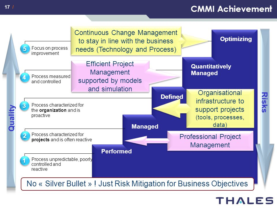 CMMI Achievement Risks Quality