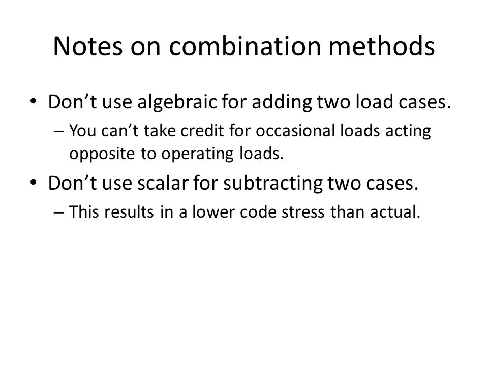 Notes on combination methods