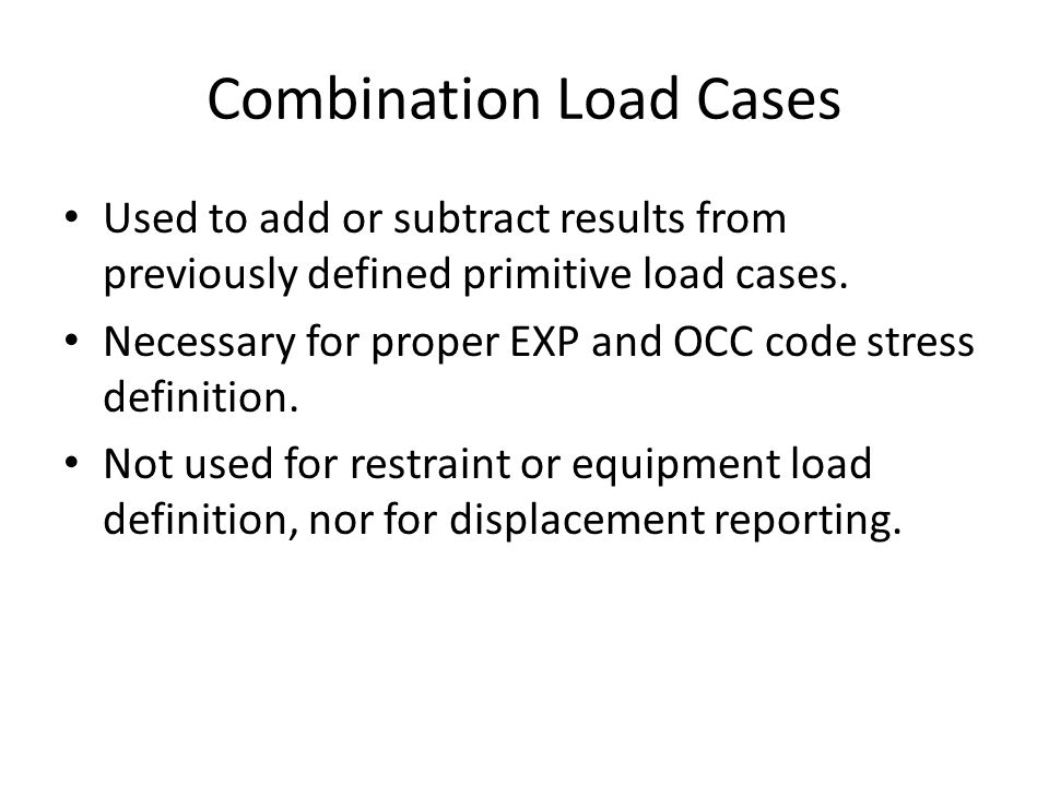 Combination Load Cases