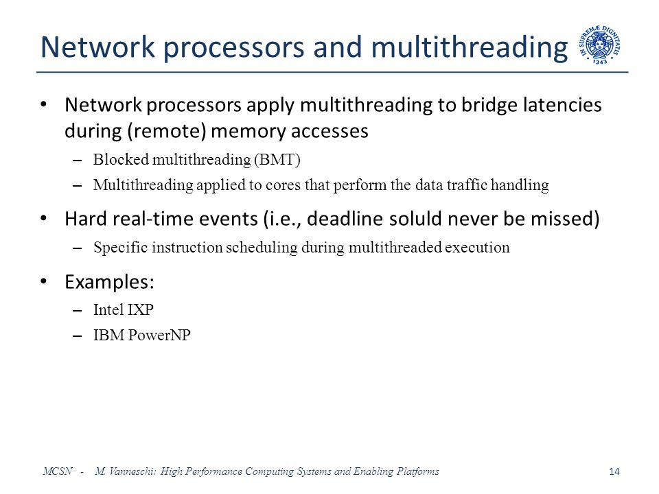 Network processors and multithreading