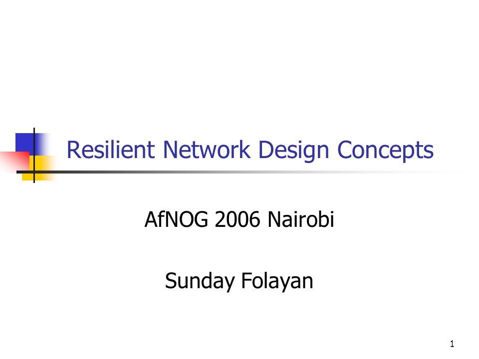 Resilient Network Design Concepts