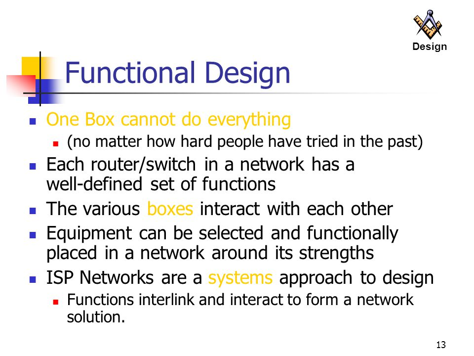 Functional Design One Box cannot do everything