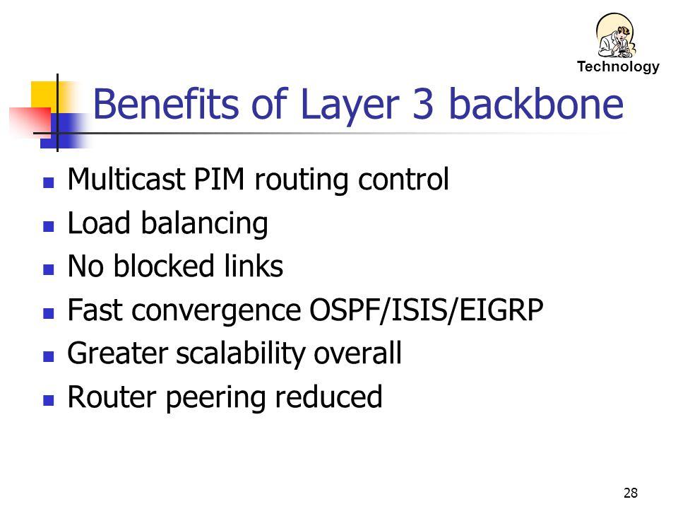 Benefits of Layer 3 backbone