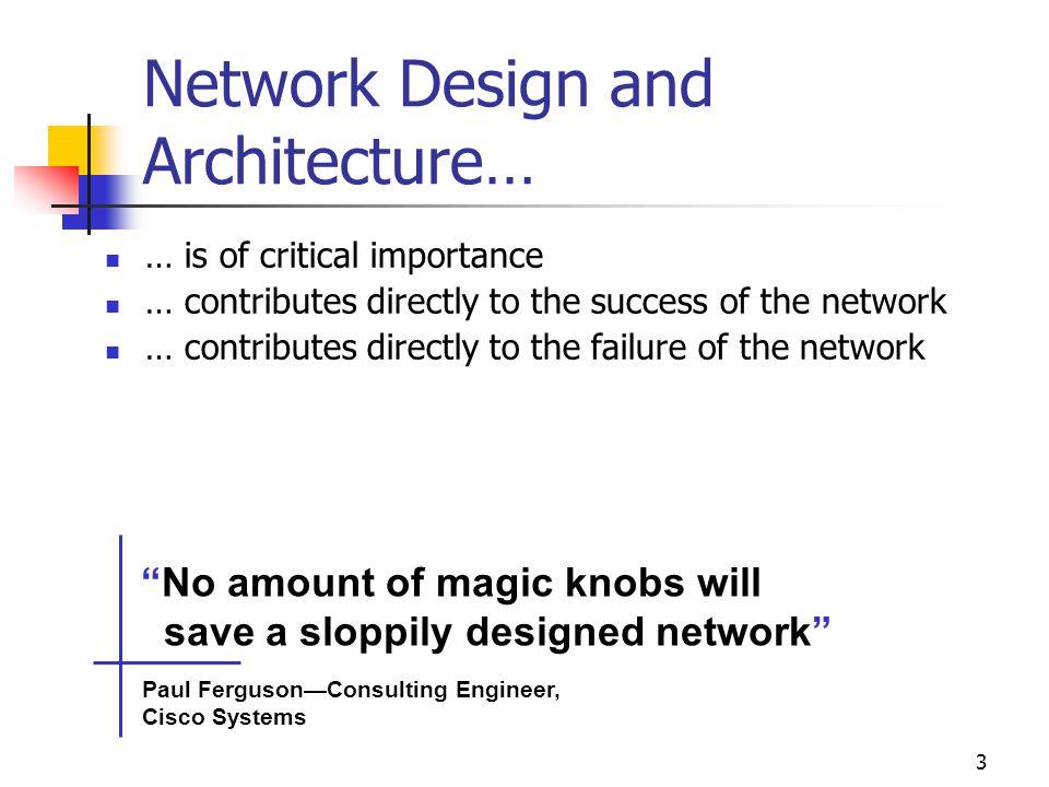 Network Design and Architecture…