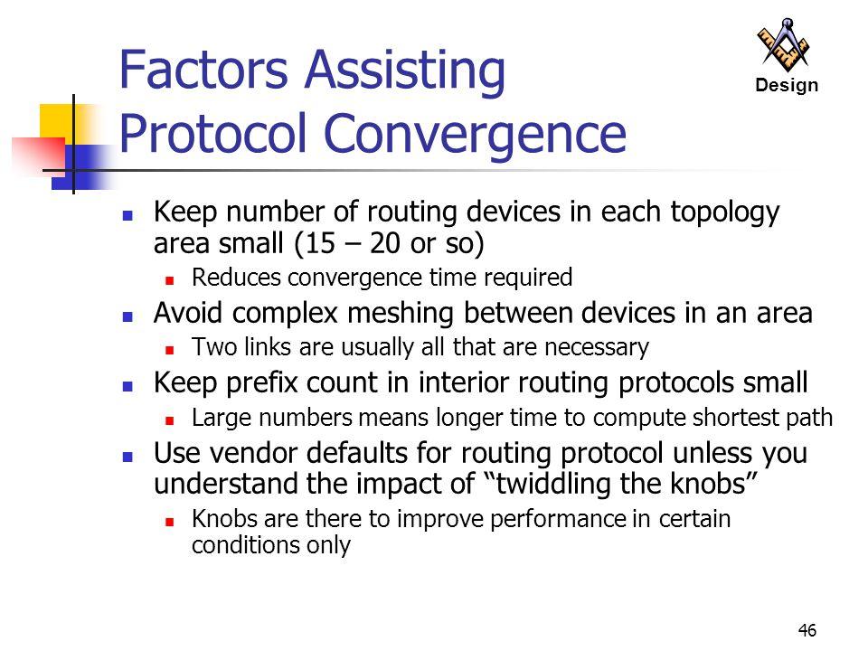 Factors Assisting Protocol Convergence