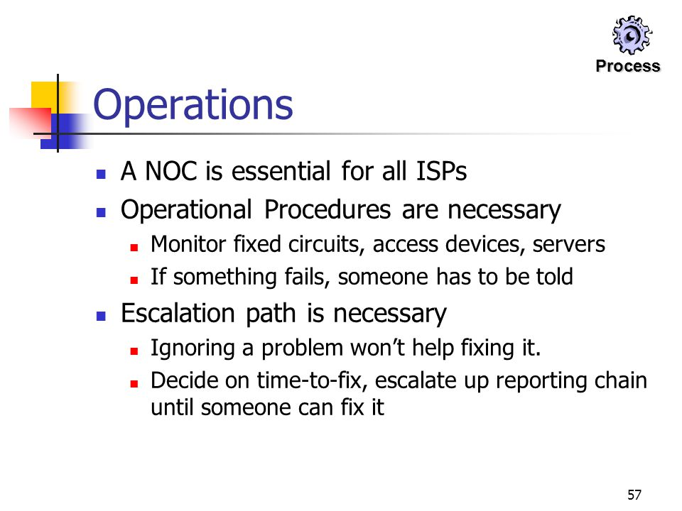 Operations A NOC is essential for all ISPs