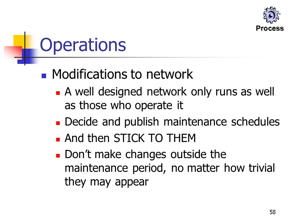 Operations Modifications to network