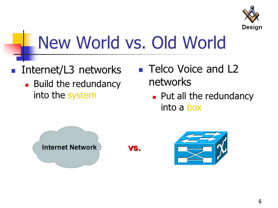 New World vs. Old World Internet/L3 networks