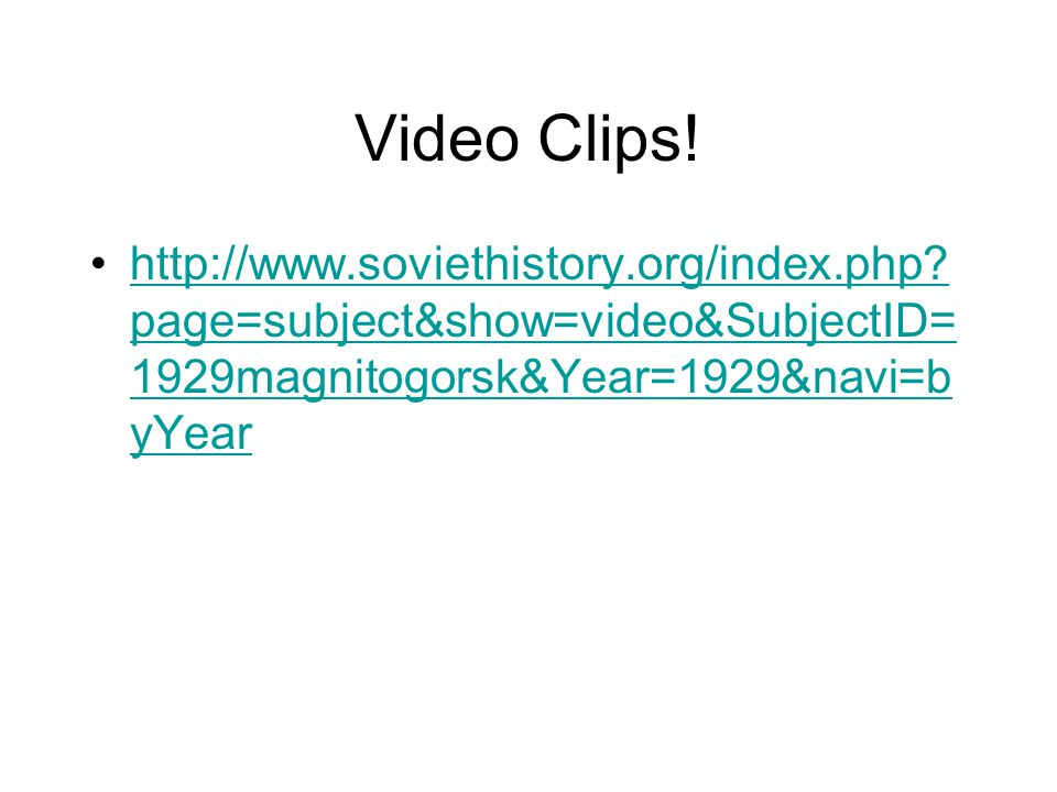Video Clips.