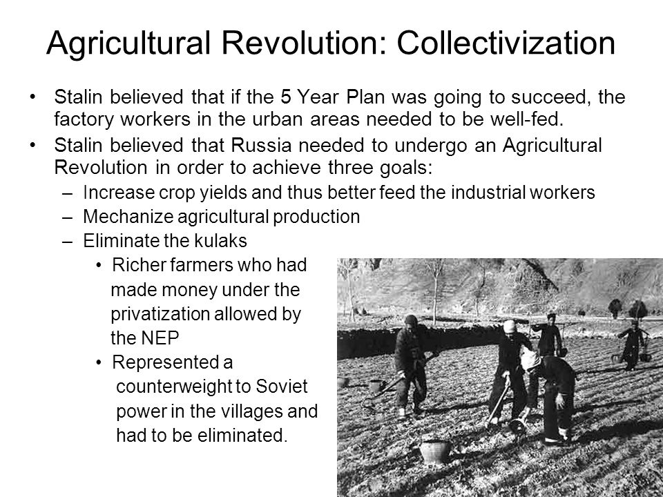 Agricultural Revolution: Collectivization