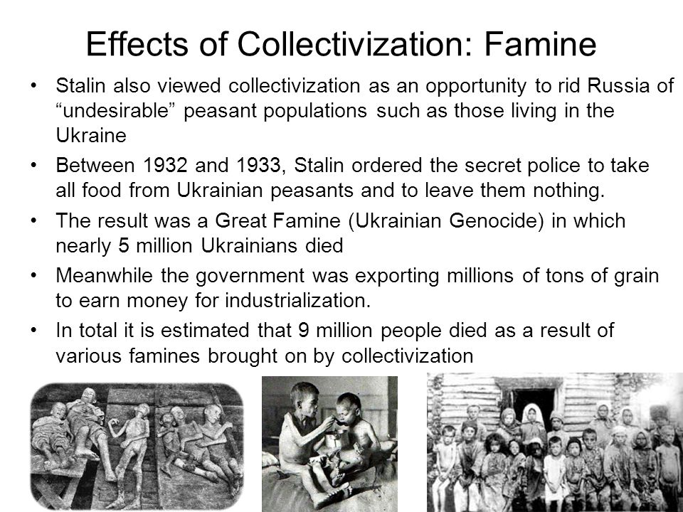 Effects of Collectivization: Famine