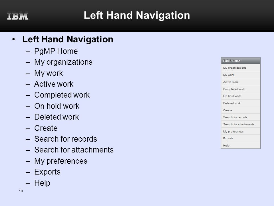 Left Hand Navigation Left Hand Navigation PgMP Home My organizations