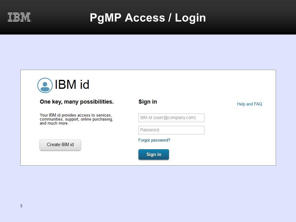 PgMP Access / Login