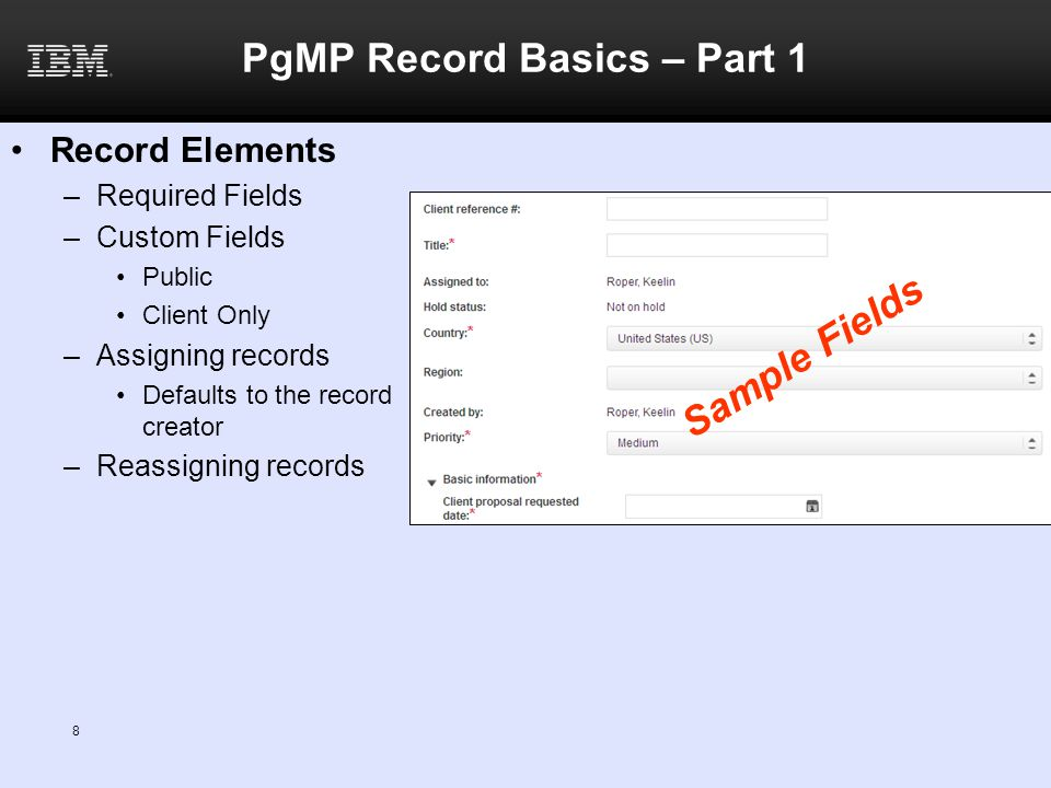 PgMP Record Basics – Part 1