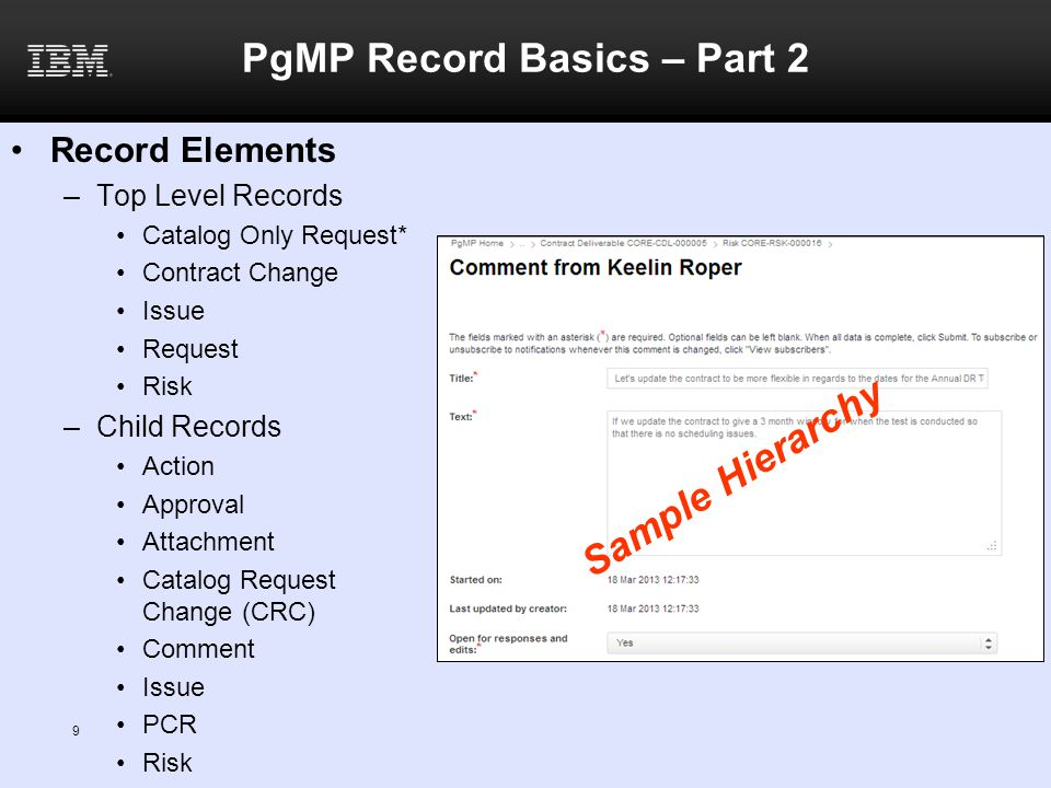PgMP Record Basics – Part 2