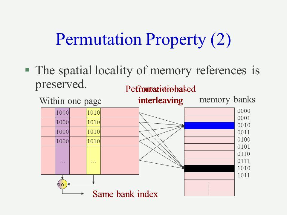 Permutation Property (2)