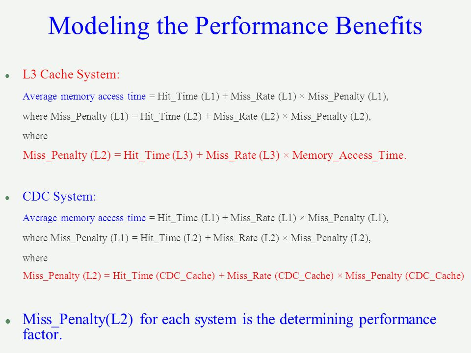 Modeling the Performance Benefits