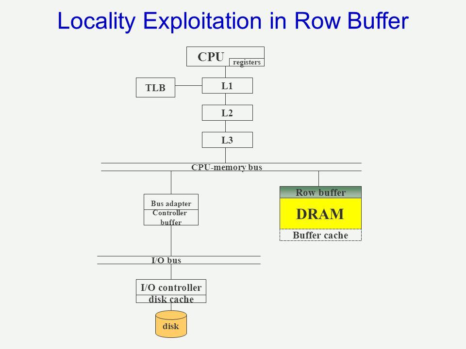 Locality Exploitation in Row Buffer