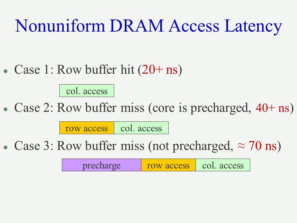 Nonuniform DRAM Access Latency