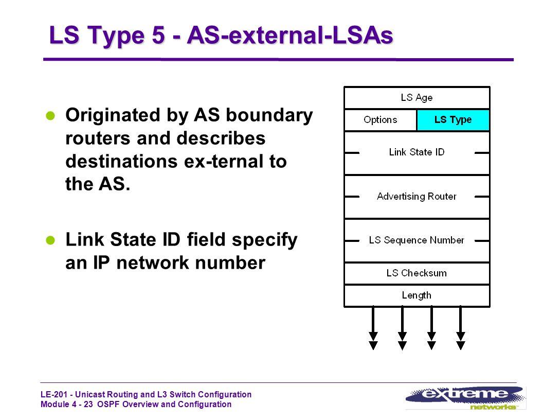 LS Type 5 - AS-external-LSAs