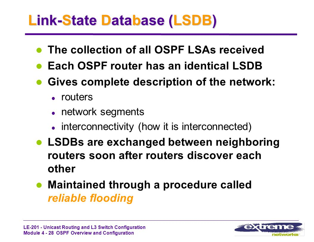 Link-State Database (LSDB)