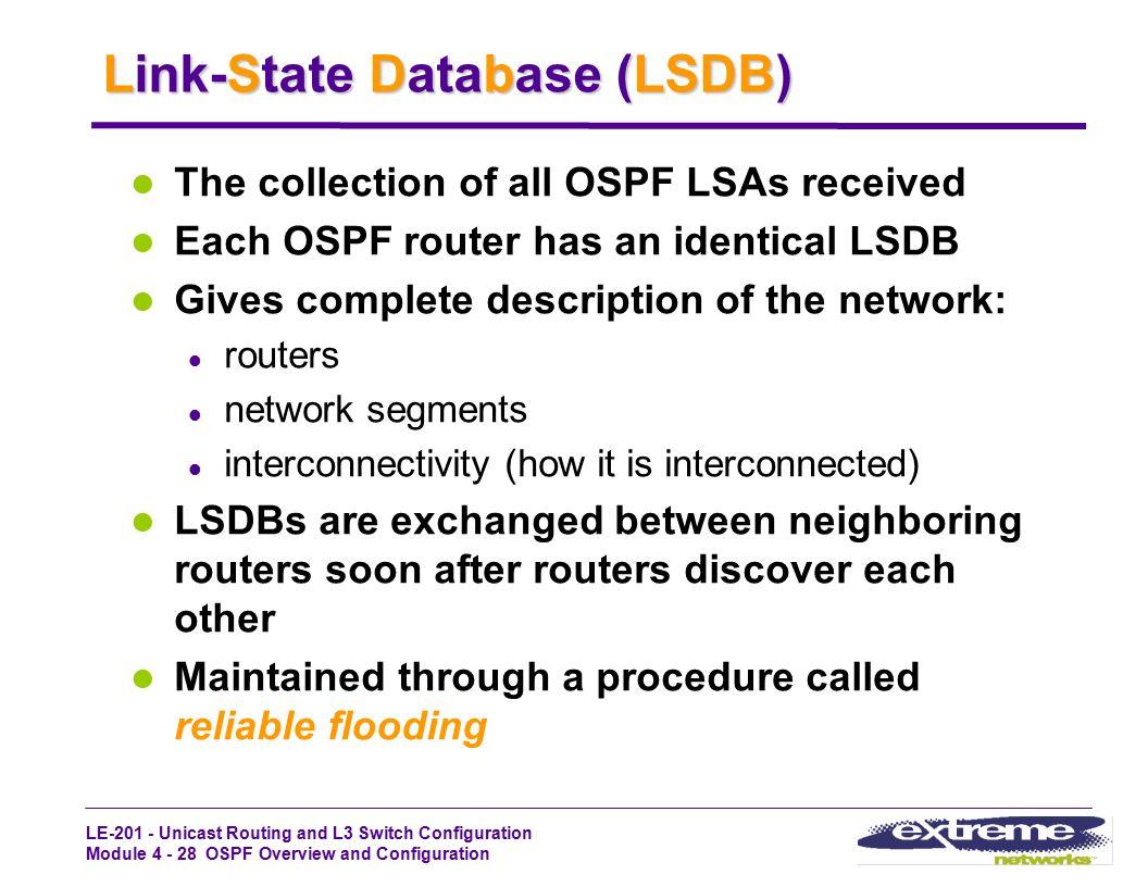 Link-State Database (LSDB)
