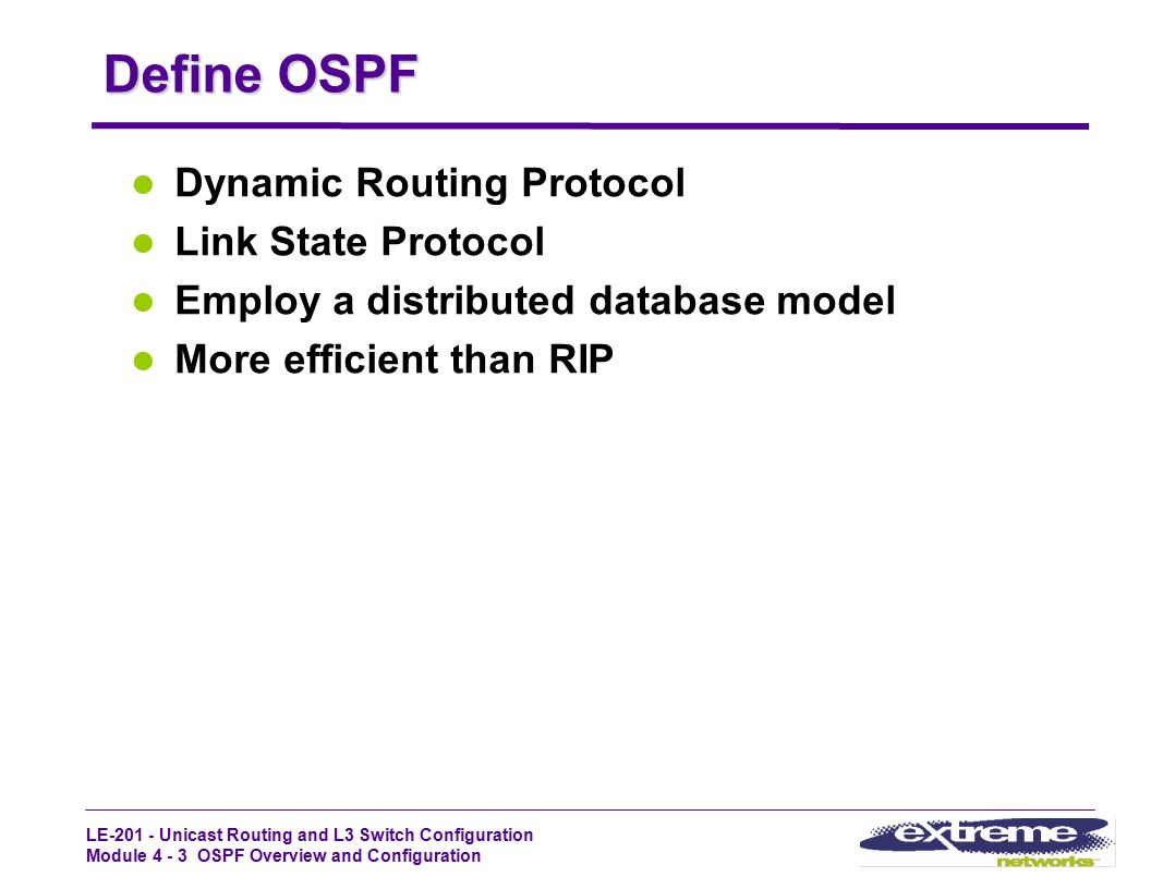 Define OSPF Dynamic Routing Protocol Link State Protocol