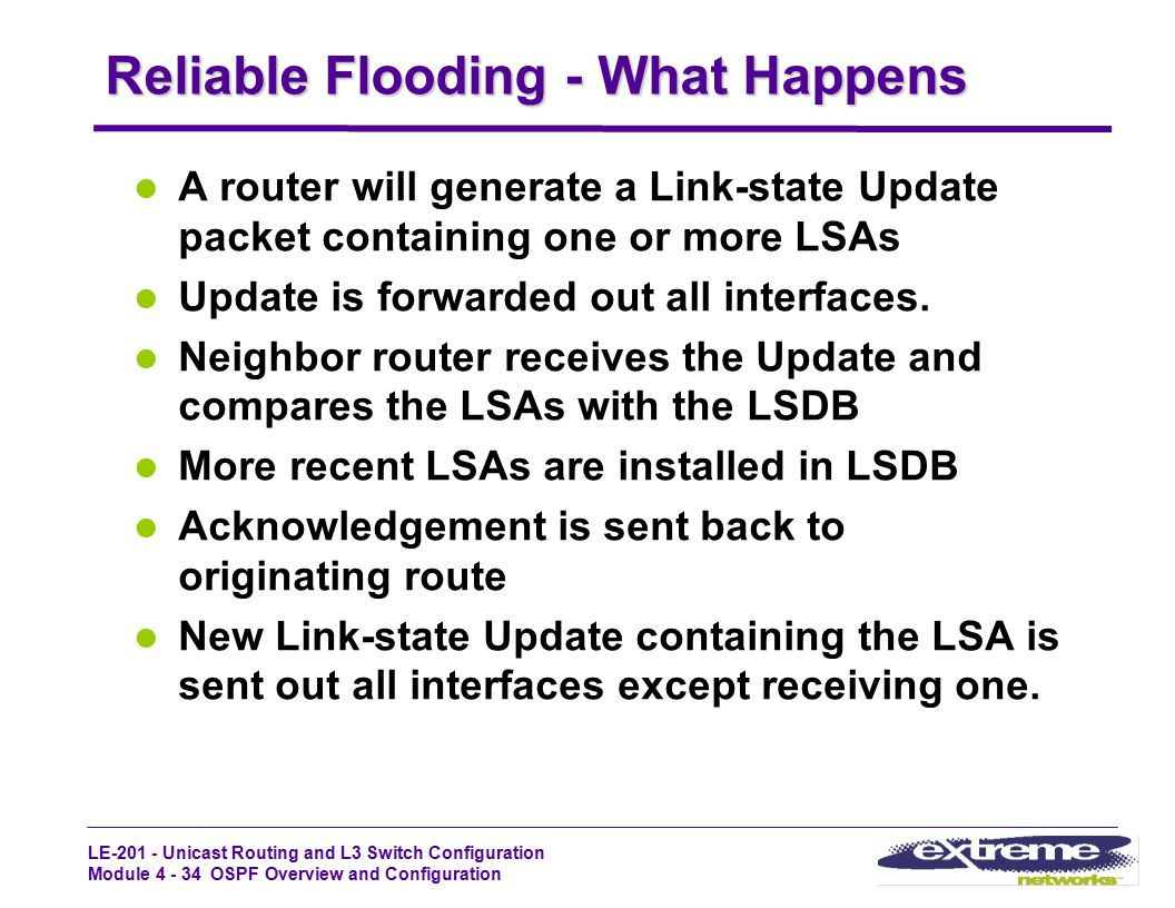 Reliable Flooding - What Happens