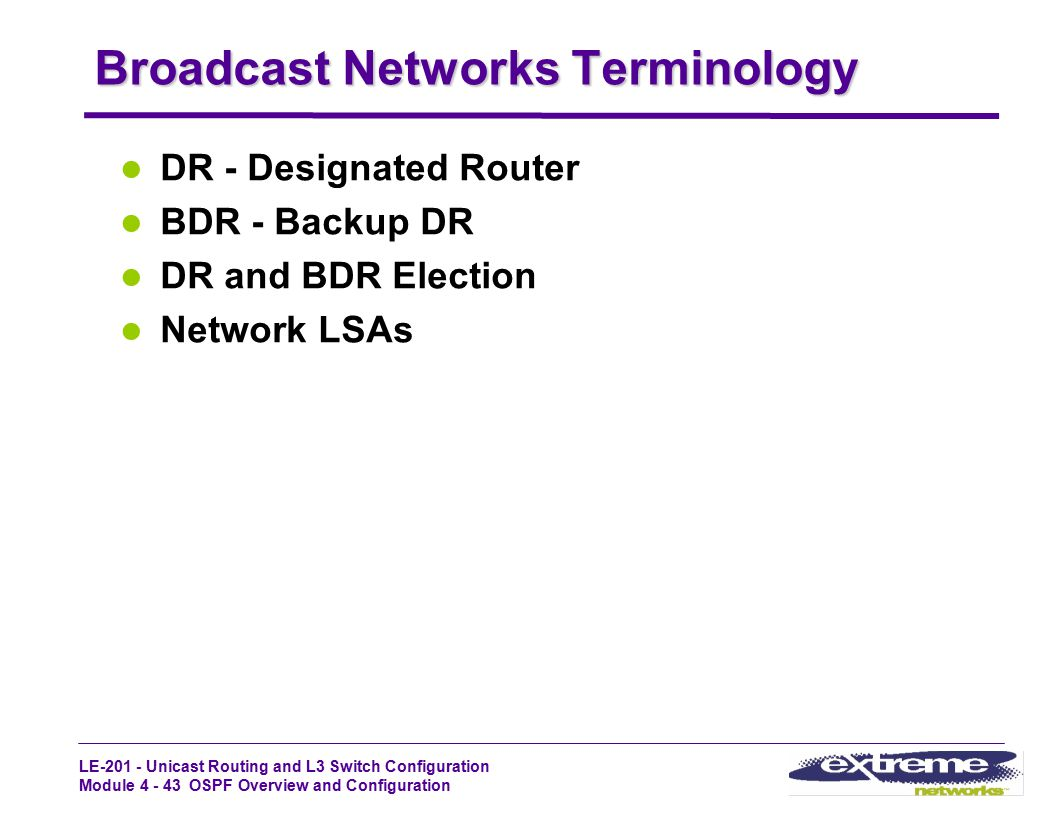 Broadcast Networks Terminology