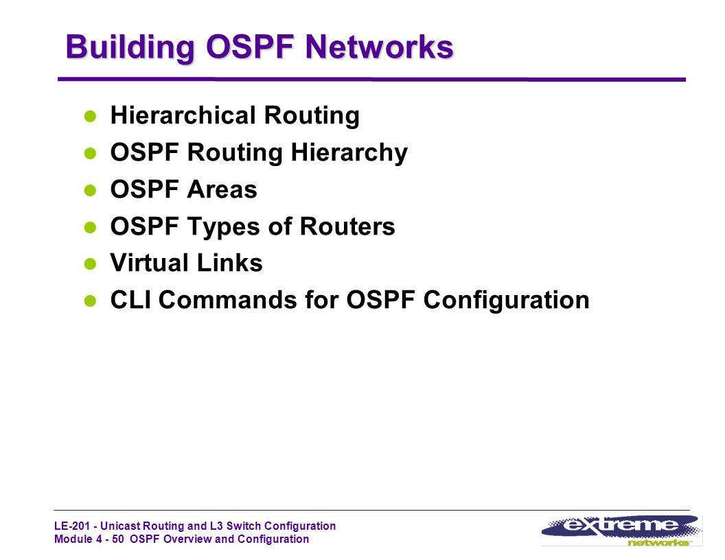 Building OSPF Networks