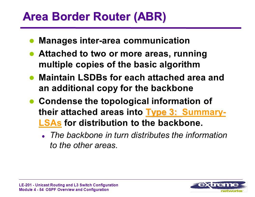 Area Border Router (ABR)