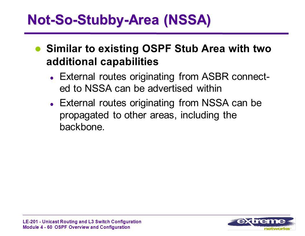 Not-So-Stubby-Area (NSSA)