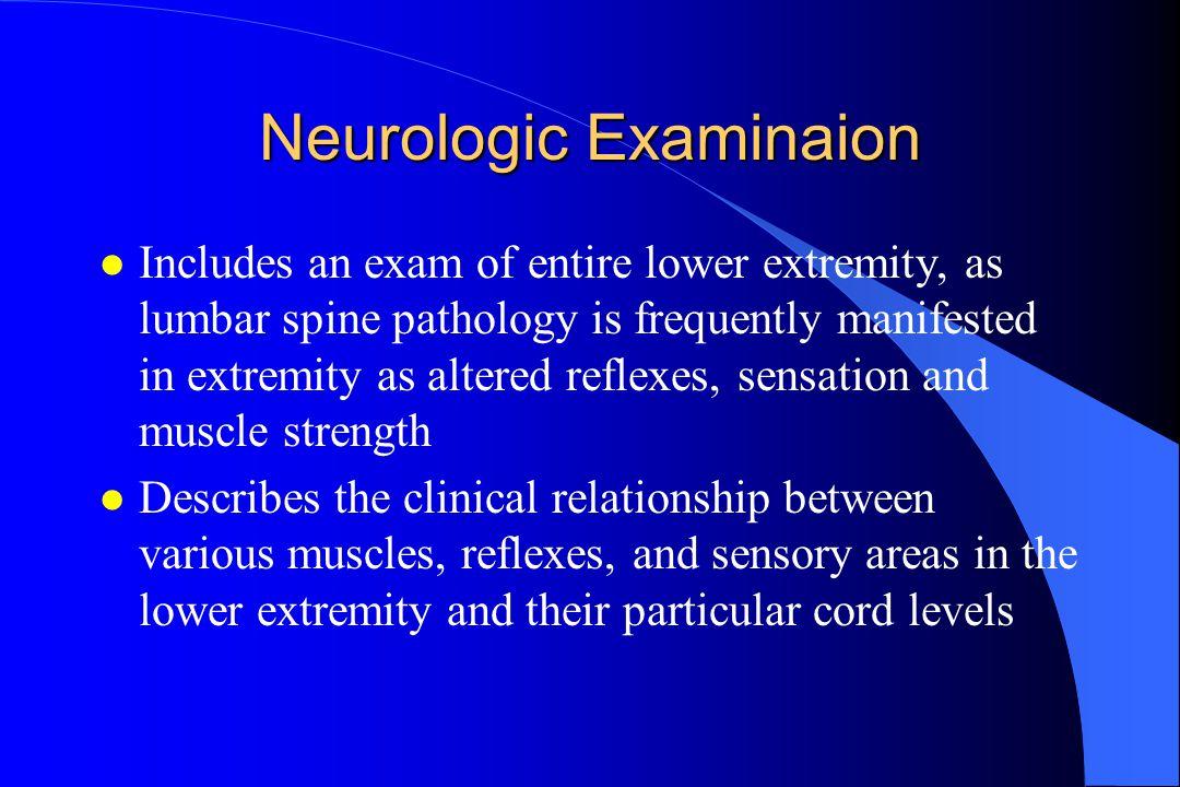Neurologic Examinaion