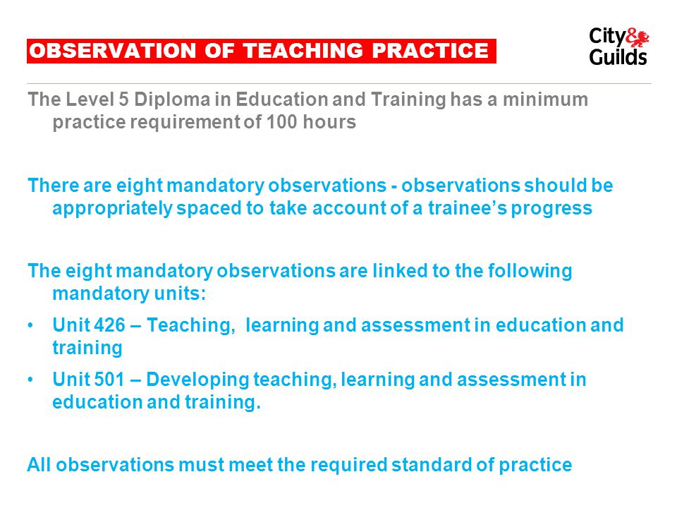 OBSERVATION OF TEACHING PRACTICE