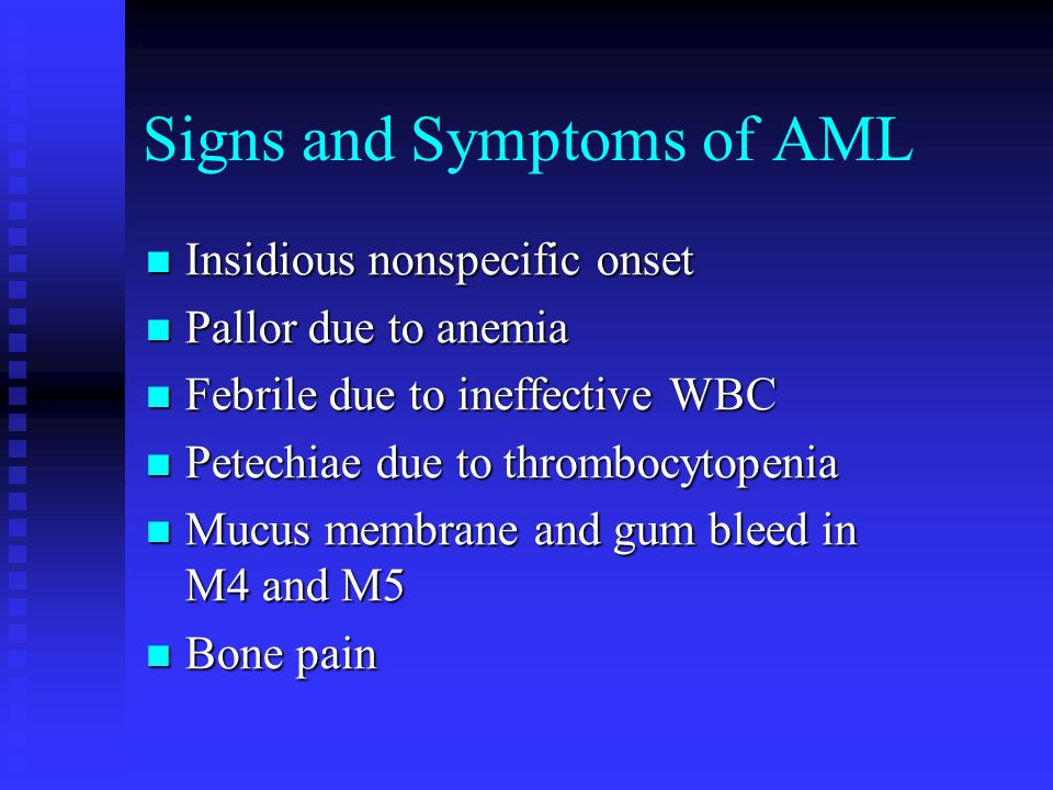 Signs and Symptoms of AML