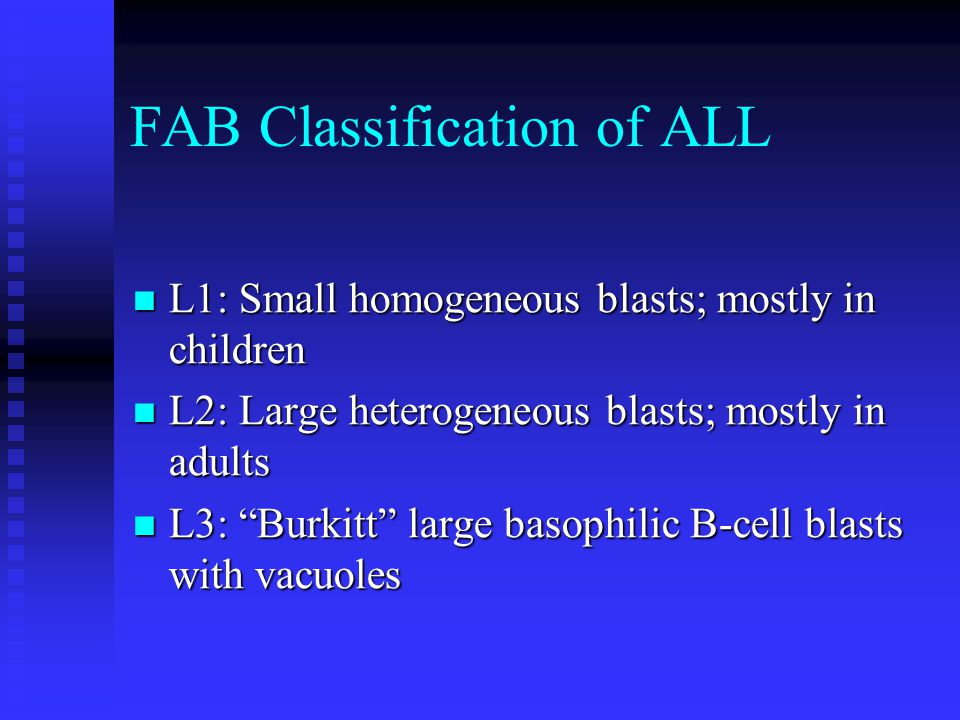 FAB Classification of ALL