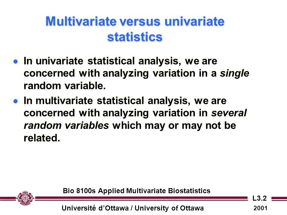 Multivariate versus univariate statistics