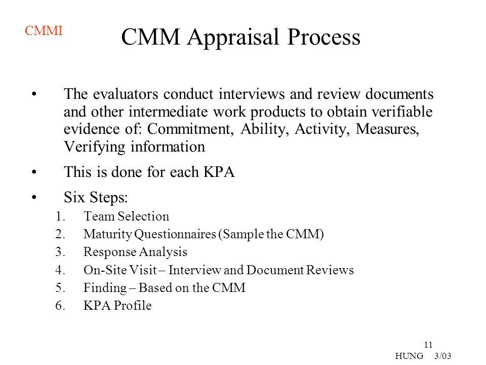 CMM Appraisal Process