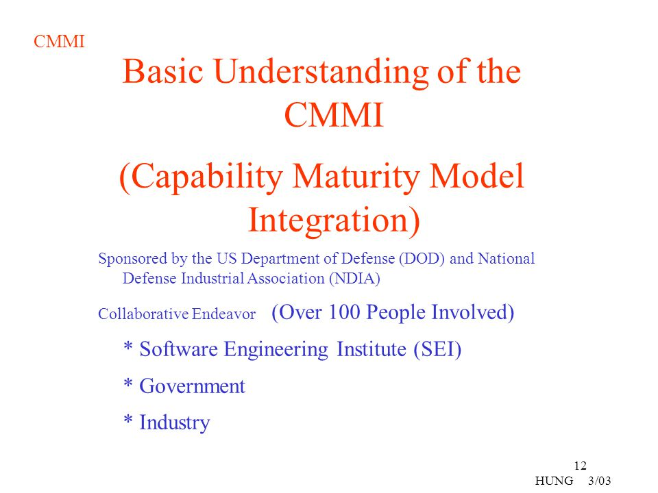Basic Understanding of the CMMI