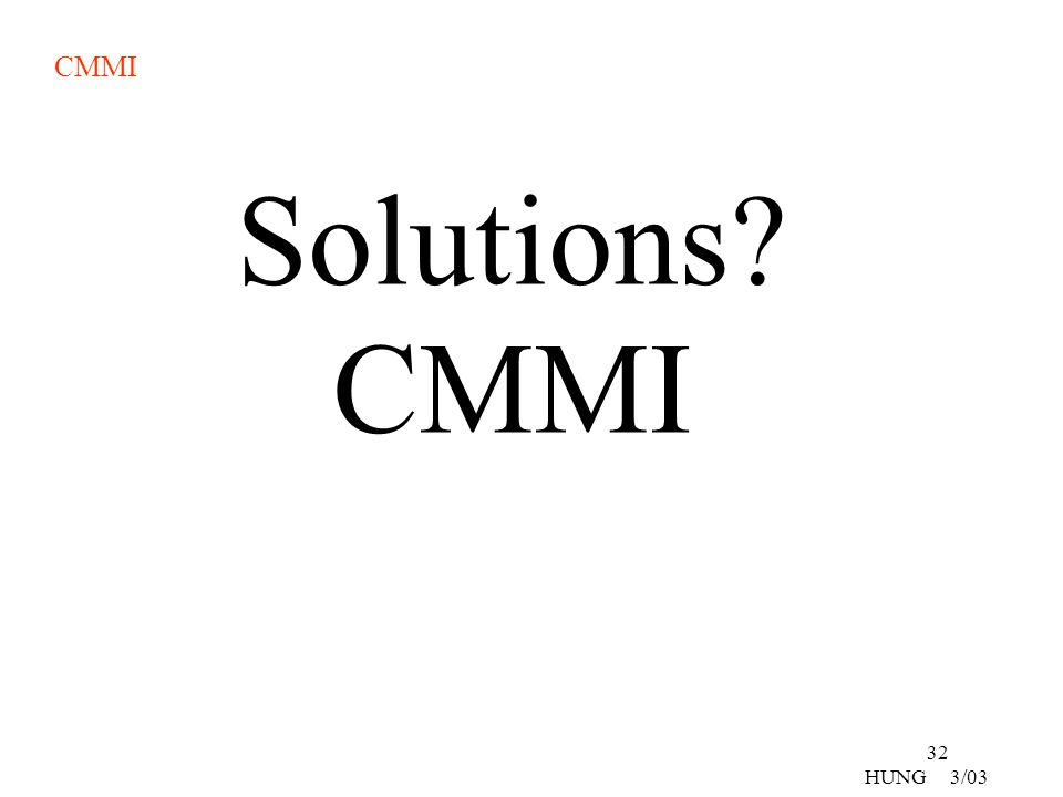 Solutions CMMI