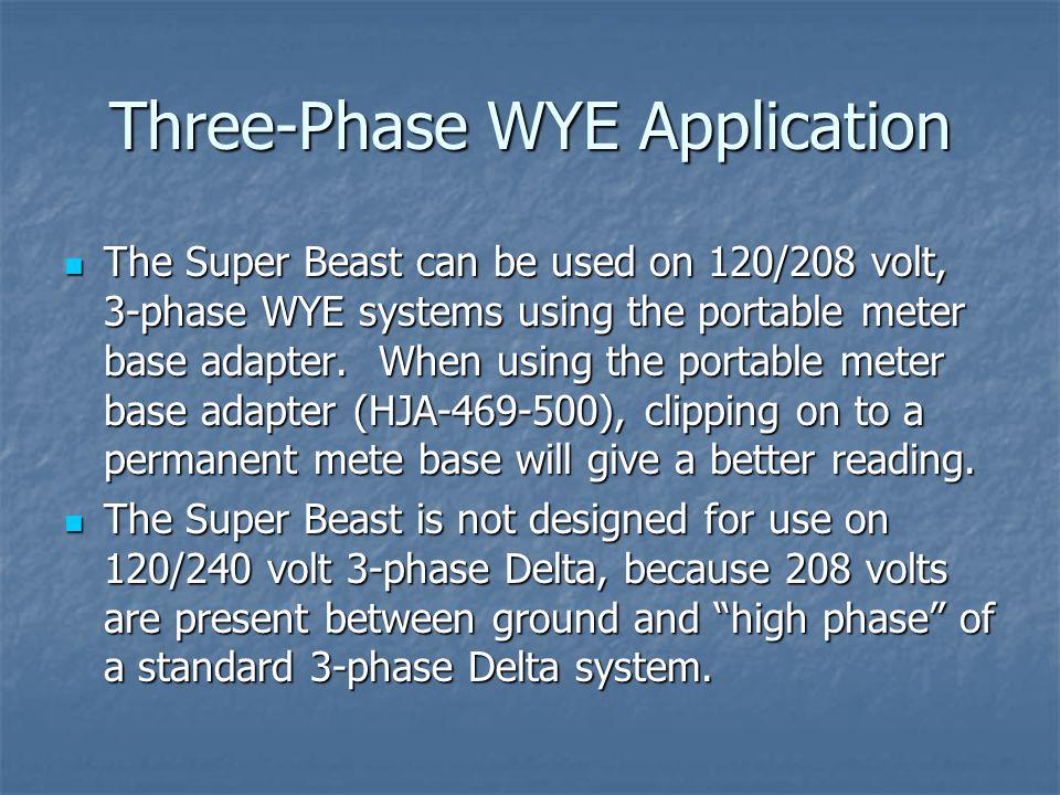 Three-Phase WYE Application
