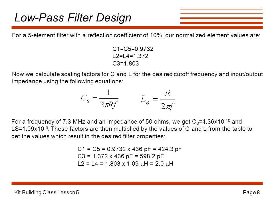 Low-Pass Filter Design