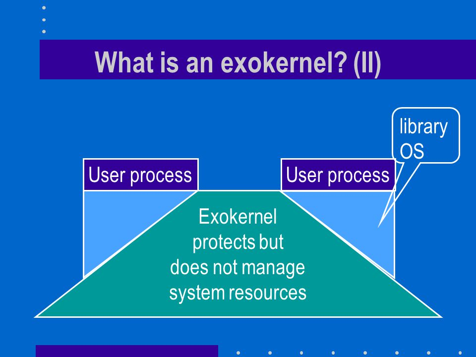 What is an exokernel (II)