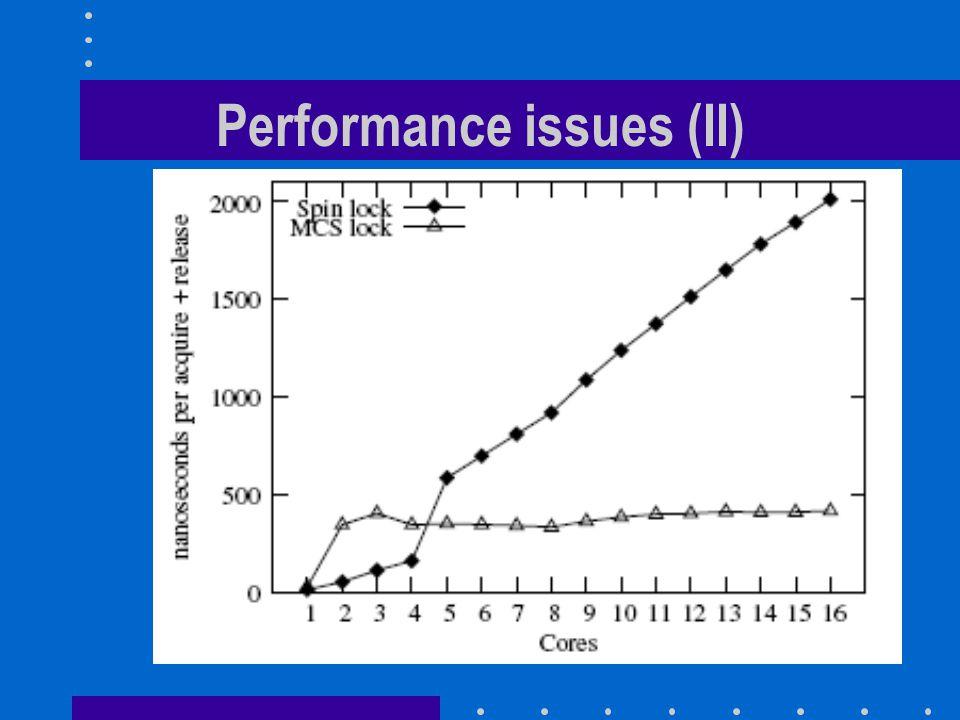 Performance issues (II)