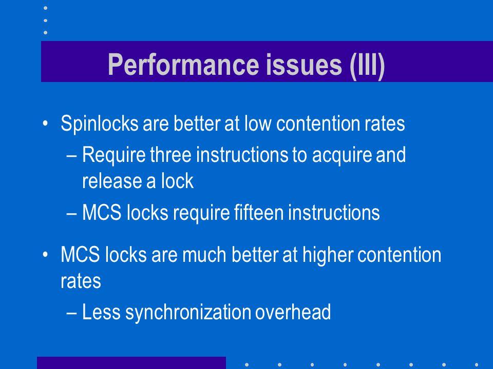 Performance issues (III)