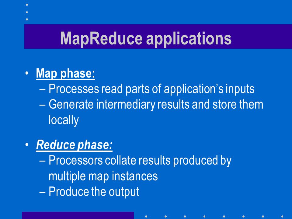 MapReduce applications