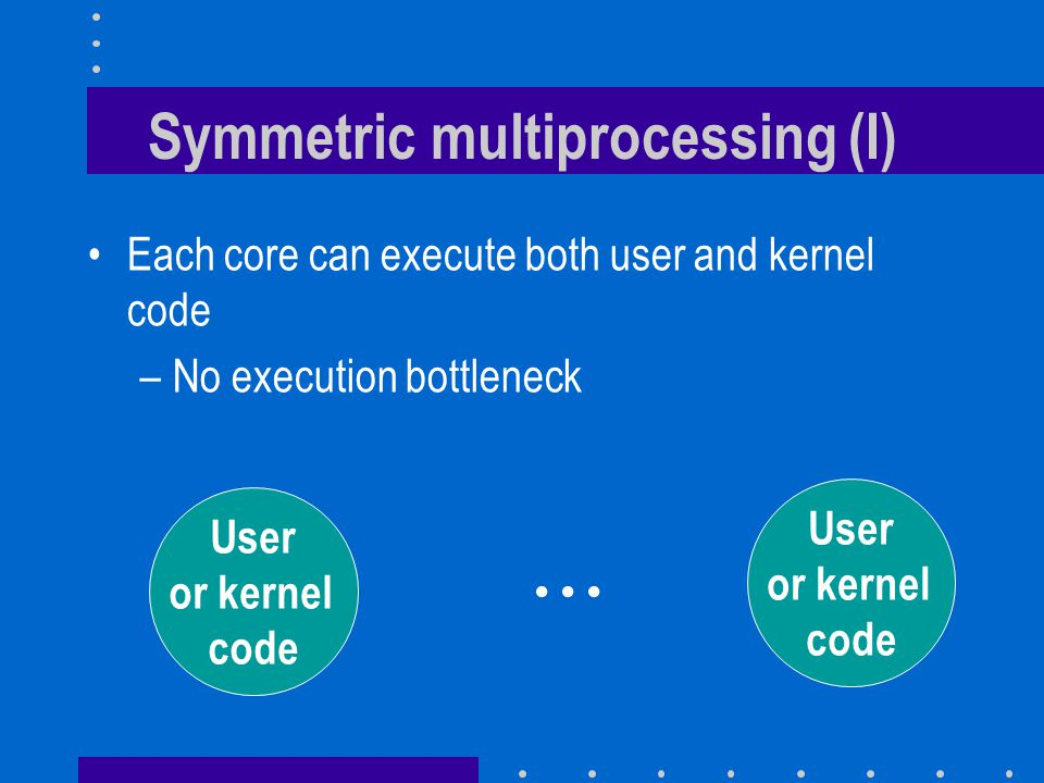 Symmetric multiprocessing (I)