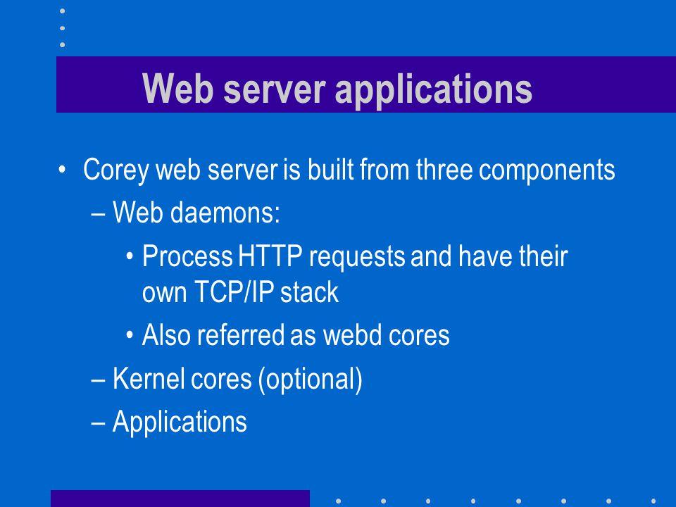 Web server applications